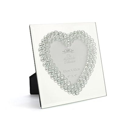 Mirror Diamante Heart Frame 4\