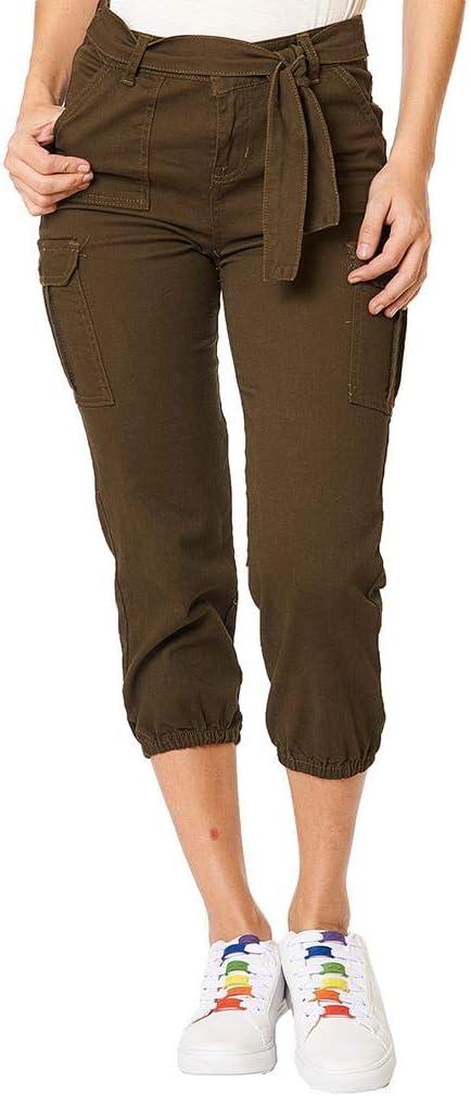 Pantalon Mujer Cargo Capri Gabardina Estrech Olivo Casual 330410 Esmeralda 5 Amazon Com Mx Ropa Zapatos Y Accesorios