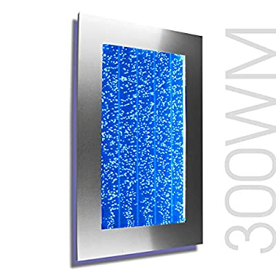 Bubble Panel Wall Mount Hanging Fountain 300WM Bubble Wall (Silver with Smartphone Controller)