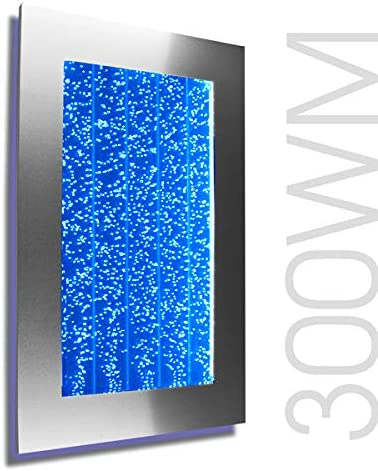 Amazon Com Wall Mount Hanging Bubble Wall Aquarium 30 Led Lighting Indoor Panel 300wm Water Fall Fountain Water Feature Home Improvement