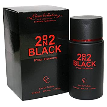 212 Herrera 2 on 2 Black 212 Black Men Perfume 3.3 oz Eau de Toilette (