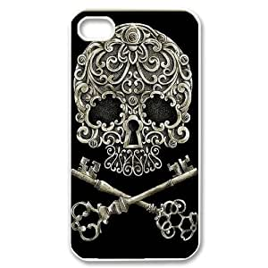 Sugar Skull Phone Case for Iphone 4,4S,diy Sugar Skull phone case