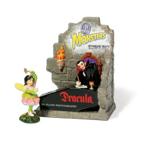 Department 56 Snow Village Halloween Autographs With Dracula Accessory Figurine (Set of 2) ()