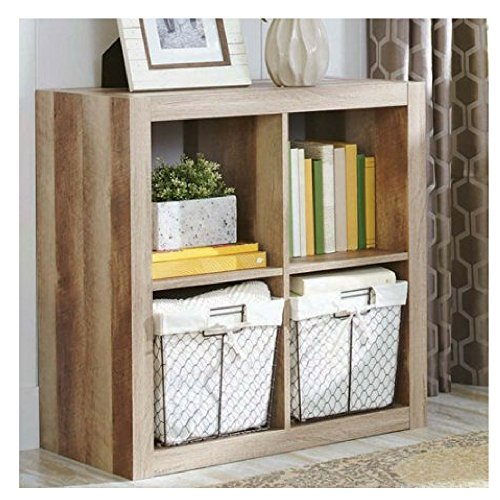 Better Homes and Gardens.. Bookshelf Square Storage Cabinet 4-Cube Organizer Weathered