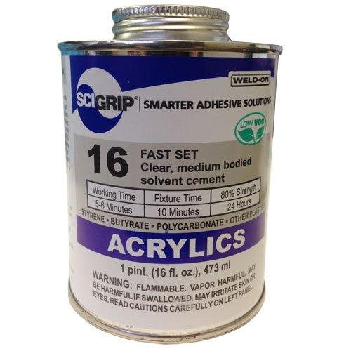 Weld-On 16 Acrylic Cement - Pint SCI Grip