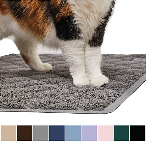 Gorilla Grip Original Premium Durable Cat Litter Mat, XL Jumbo, No Phthalate, Water Resistant, Traps Litter from Box and…