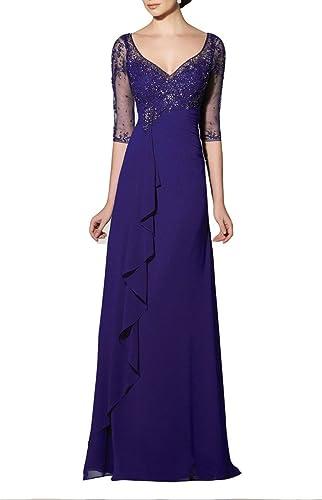 Emmani Women's Sheath Applique Illusion Sleeve Evening Dresses Mother Dresses