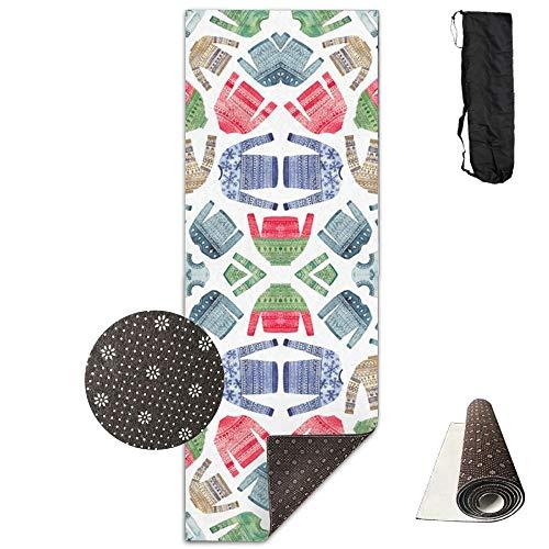 Christmas Scandinavian Winter Jumpers,Yoga Mat Made to Measure,Yoga Towel Exercise Mat Non-Slip Base Fastness Waterproof Yoga Mats ()