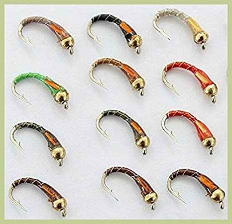 Olive Fly Fishing Flies Trout Copper Buzzers size 12 Set of 3