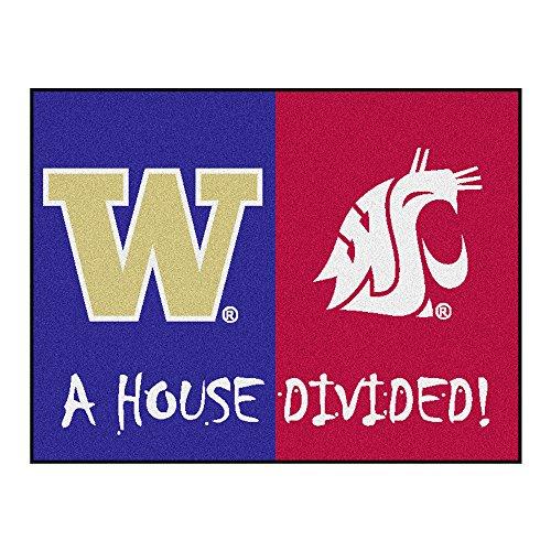 NCAA House Divided - Washington/Washington State House Divided Non-Skid Mat Rectangular Area Rug