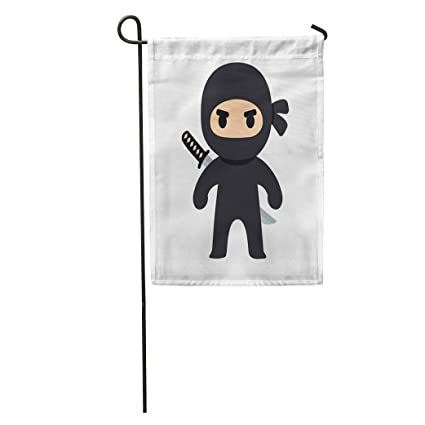 Amazon.com : Semtomn Garden Flag Anime Cartoon Ninja Drawing ...