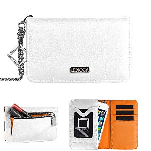 Lencca Kymira Wristlet Wallet Clutch For Samsung ATIV SE/ATIV Odyssey/ATIV S Windows Phone SmartPhone (Orange Se Samsung Case Ativ)