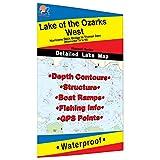 Lake of the Ozarks-West (Truman Dam to Hurricane Deck Bridge) Fishing Map