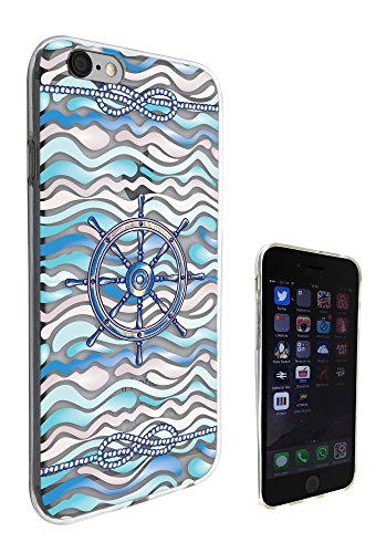 c0101 - Waves ship wheel marine knots Design Pour iphone 5C Protecteur Coque Gel Rubber Silicone protection Case Coque