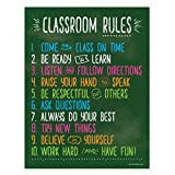 Classroom Rules Poster - 17 x 22 in. - Laminated …