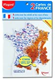 Maped - Gabarit carte de France, contenu: 2 pices
