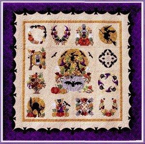 Baltimore Album Halloween BOM P3 Designs Set 13 Quilt Patterns -