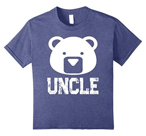 Kids Uncle Bear T-shirt 8 Heather (Mama And Papa Bear Costume)