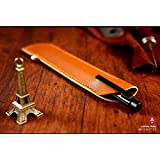 Junsi Brown Leather Case Cover Sleeve Bag for FiftyThree Paper Pencil 53 Stylus Pencil