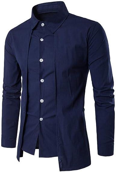 Abrigo Camisa Hombre Vintage Mandarín Cuello Gótico Steampunk Slim Mode De Marca Fit Color Sólido Camisa Manga Larga Abrigo: Amazon.es: Ropa y accesorios