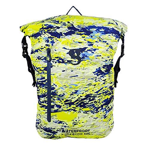 geckobrands Endeavor 30L Waterproof Backpack – Lightweight Packable Dry Bag, Mahi geckoflage