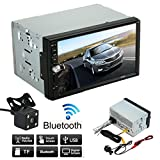 Skmei Car Rear View Camera & Monitor Parking Assistance System, 7 Inch 1080P HD Touch Screen, Movie/FM/Audio/USB/TF Card/Charger