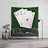 Society6 Wall Tapestry, Size Large: 88'' x 104'', Poker of Aces by josephoto