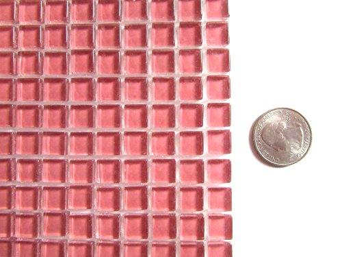 100 Mini Pale Pink Mosaic Tiles, Glass Mosaic Pieces, Ceramic Mosaic Tiles, Mosaic Art Supplies, Tile Mosaic Supply, Mosaic Craft Tiles, Broken Dish Piece -