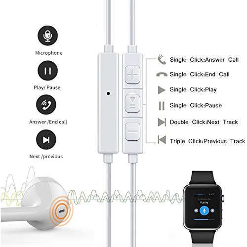 Earbuds,Earphones,Headphones,HaRuion In Ear Earbuds,In The Ear Earphones Wired with Mic/Remote Control for Apple Iphone 6S Plus/Samsung Galaxy S9 8/Huawei/Blackberry Mobile Tablet Music Players by HaRuion (Image #5)