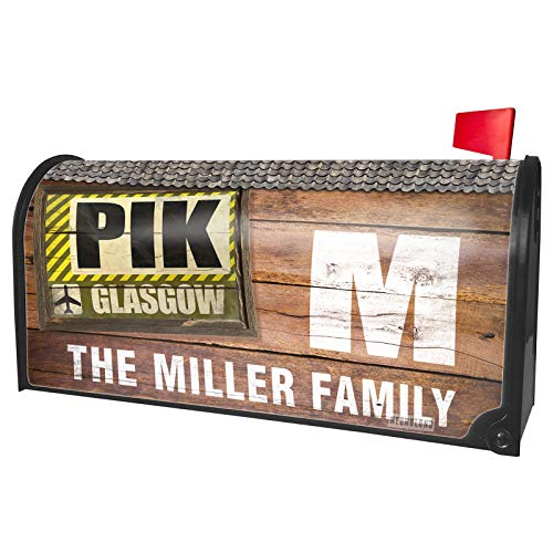 NEONBLOND Custom Mailbox Cover Airportcode PIK Glasgow