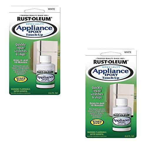 - Rustoleum 20300 0.6 oz. Appliance Touch-Up, White, 2 Pack