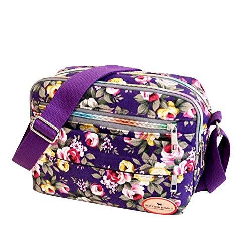 LiLiMeng Fashion Women Canvas Crossbody Bag Shoulder Bag Messenger Bag Cosmetic Bag PP