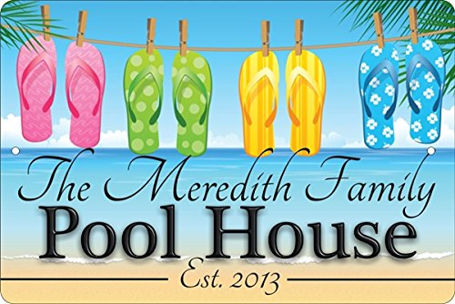 - ATD Pool House Personalized Customized Decorative aluminum sign