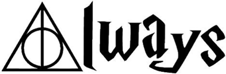 NI257 **2 Pack** Harry Potter Always 6 Black Vinyl Car Truck Decal Sticker Universal Movies