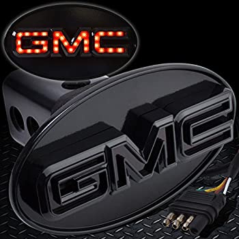 GMC Red Engraved Billet Aluminum Tow Hitch Cover Official Licensed