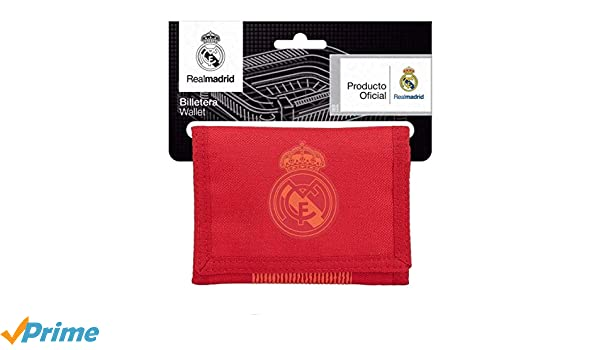 Safta Real Madrid - Billetera, Rojo, 13 cm: Amazon.es: Equipaje