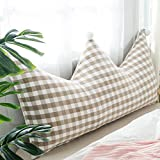 Bed large backrest / bedside large cushions / sofa cushions / single double bed soft bag / ( Color : Gray , Size : 15080cm )