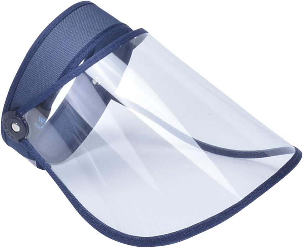 AIEOE Pack de 2 Transparente Antivaho Visera de Protecci/ón Escudo Facial Ajustable Antisalpicaduras Protector Facial Completa