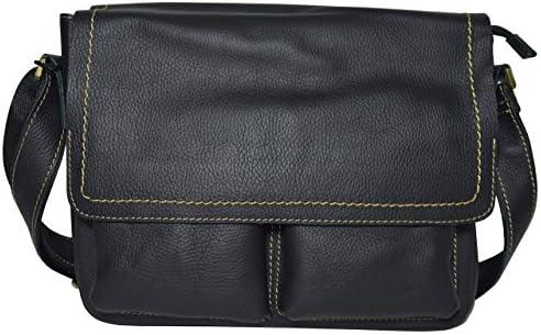 本革 ショルダーバッグ メンズ 斜めがけ A4サイズ対応 メッセンジャーバッグ レザー ブラック 黒色