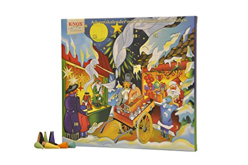 Advent Calendar with 24 great fragrances Incense Cones by Knox
