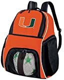 Broad Bay University of Miami Soccer Ball Backpack or Volleyball Bag Orange