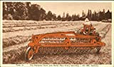 Vintage Advertising Postcard: New Power-Driven Side-Delivery Rake And Tedder Advertising