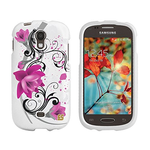Beyond Cell® Lotus Design - Hard Case Cover compatible with Samsung Galaxy Light T399 (T-Mobile) - Retail Packaging