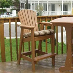 Perfect Choice Furniture Bar Height Adirondack Dining Chair White Garden Outdoor