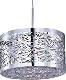 ET2 Lighting EP96070-10PC Pendant with Metal Shade, Polished Chrome Finish