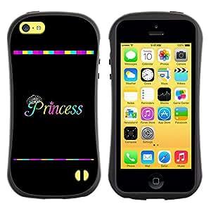 Suave TPU GEL Carcasa Funda Silicona Blando Estuche Caso de protección (para) Apple Iphone 5C / CECELL Phone case / / Rainbow Black Text Minimalist /