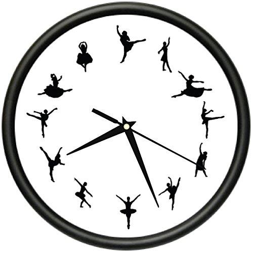 BALLET TIME Wall Clock ballerina dancer ballet leotard shoes gift