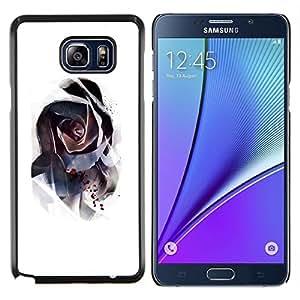 YiPhone /// Prima de resorte delgada de la cubierta del caso de Shell Armor - rosa misteriosa acuarela abstracta - Samsung Galaxy Note 5 5th N9200