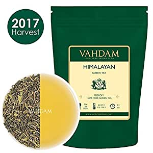 Organic Green Tea Leaves from Himalayas(100+ Cups),100% Natural Organic Green Tea Loose Leaf, Powerful Natural Anti-Oxidants, 2017 Harvest, 9oz, Organic Loose Leaf Green Tea