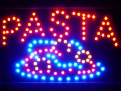 ADV PRO led125-r pasta Pizza Cafe Shop LED Neon Sign Pizarra ...